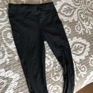 LuluLemon cropped (7/8) running pants, black